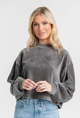 Southern Shirt Cropped Corduroy Sweatshirt/2C035