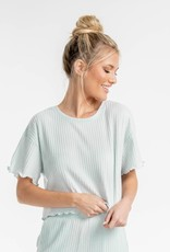 Southern Shirt Ribbed Sincerely Soft Lounge Top