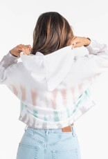 Southern Shirt Cropped Tie Dye Hoodie