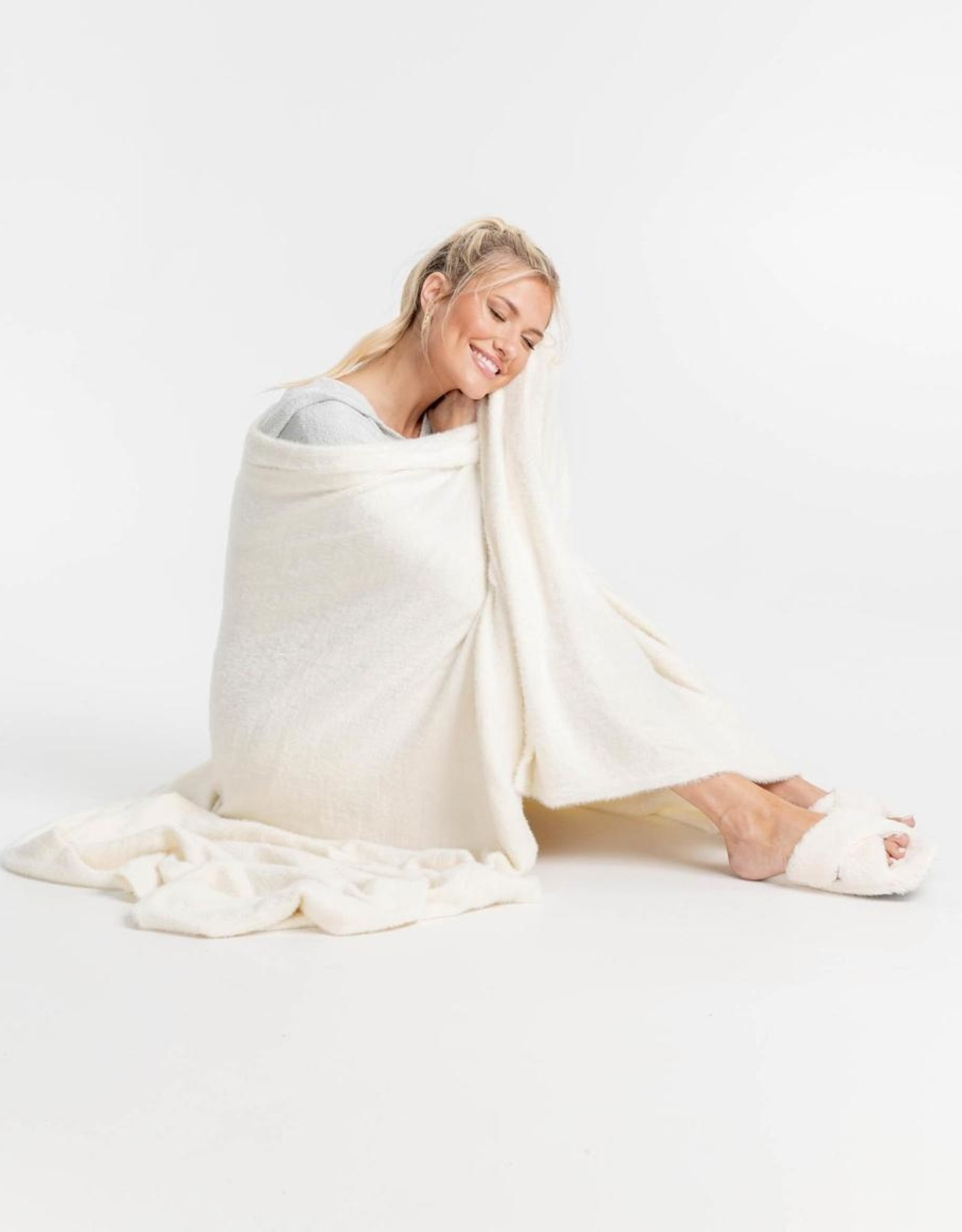 Southern Shirt Feather Knit Blanket
