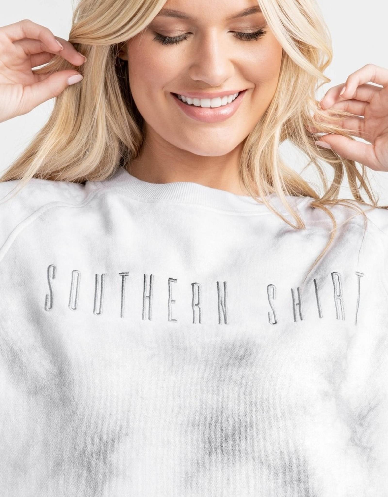 Southern Shirt Tie Dye Velvety Sweatshirt