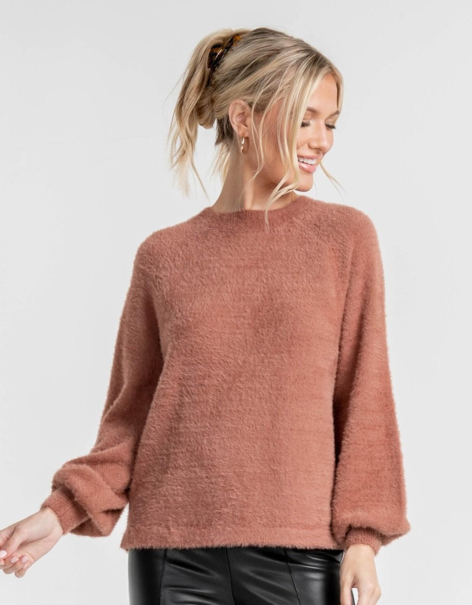Southern Shirt Feather Knit Mockneck Sweater