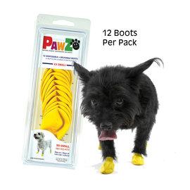 Pawz Products PAWZ Boots - XX-Small Yellow 12pk