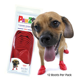 Pawz Products PawZ  Small 12pk Red