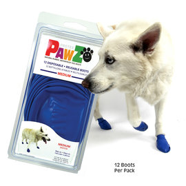 Pawz Products PawZ Boots - Medium Blue 12pk