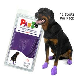 Pawz Products PAWZ Boots - Large Purple 12pk