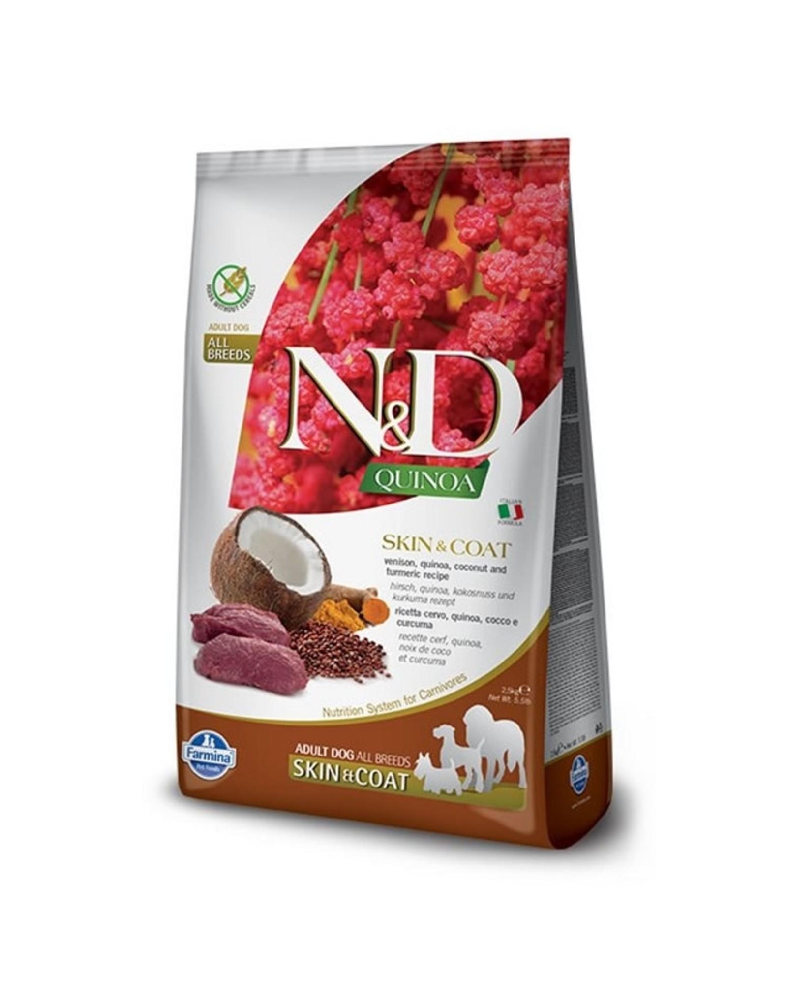 Farmina N&D Dog Food Skin & Coat Venison Quinoa 15.4#