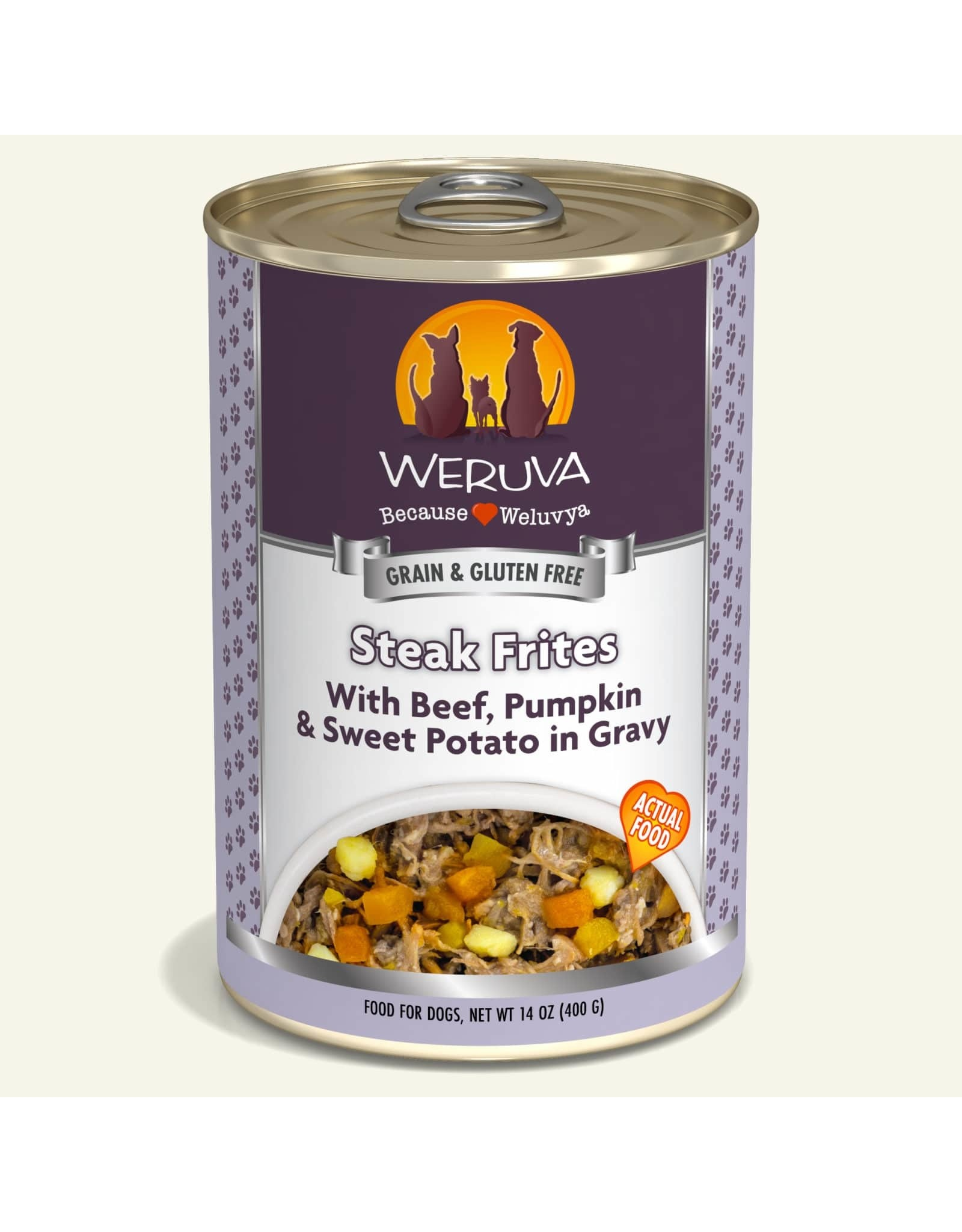 Weruva Weruva Dog Steak Frites 14oz