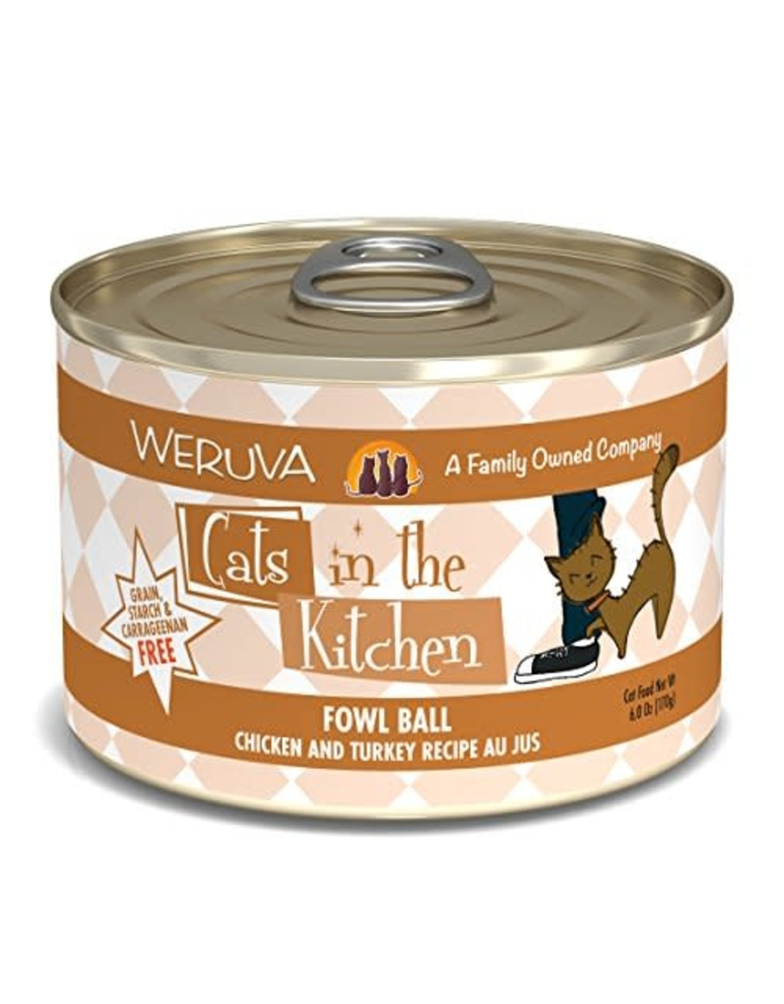 Weruva Cats in the kitchen Fowl Ball 3.2oz