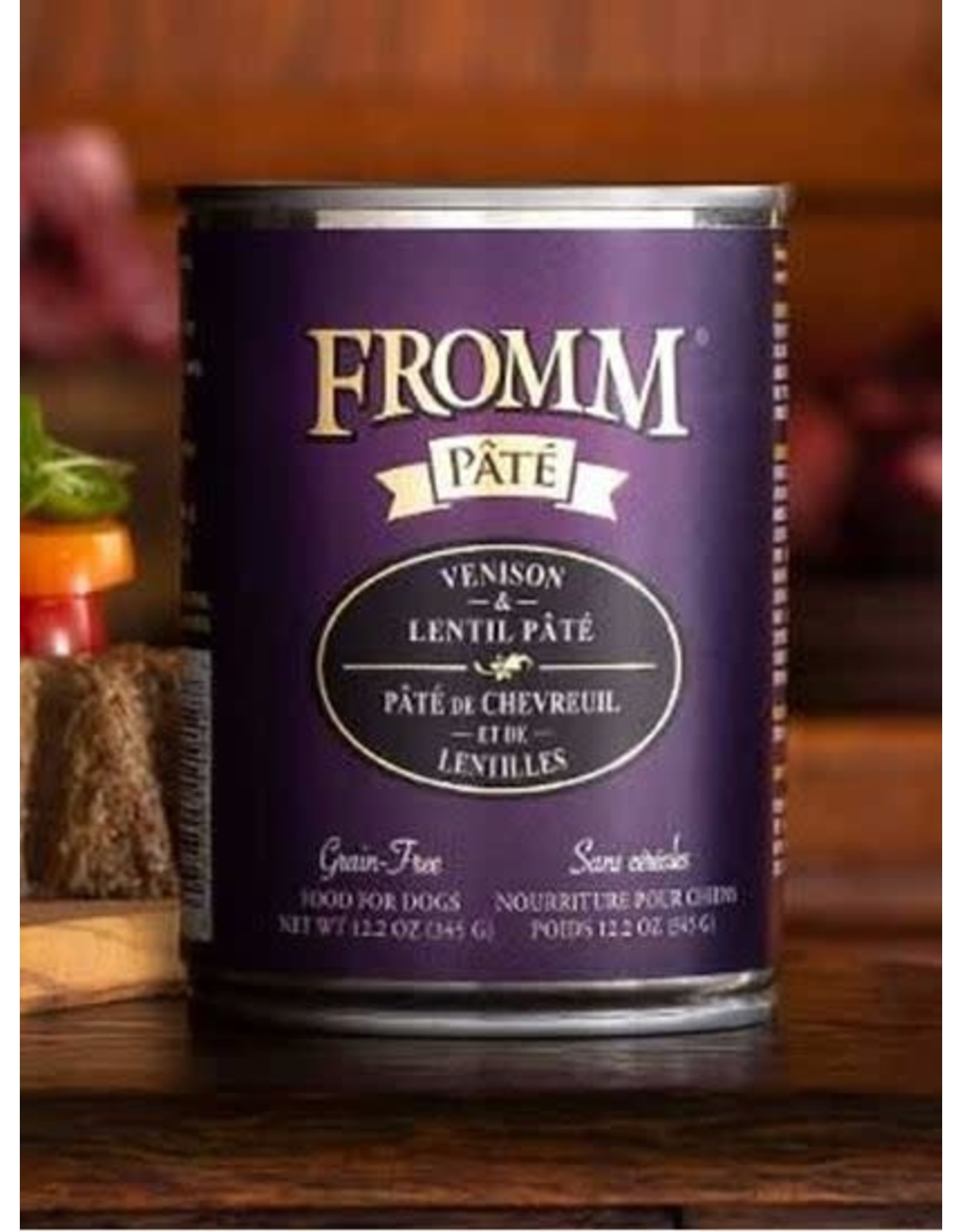 Fromm FROMM Dog Wet- Venison Pate 12.2oz