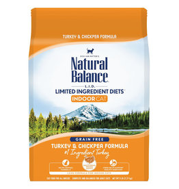 Natural Balance Natural Balance Cat LID Indoor Turkey ChickPea 5 LB