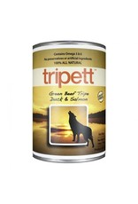 Tripett green beef tripe duck salmond wet dog food