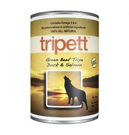 Tripett green beef tripe duck salmond wet dog food