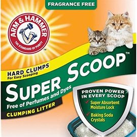 Arm & Hammer A&H Super Scoop Clumping Litter Unscented 12.7KG
