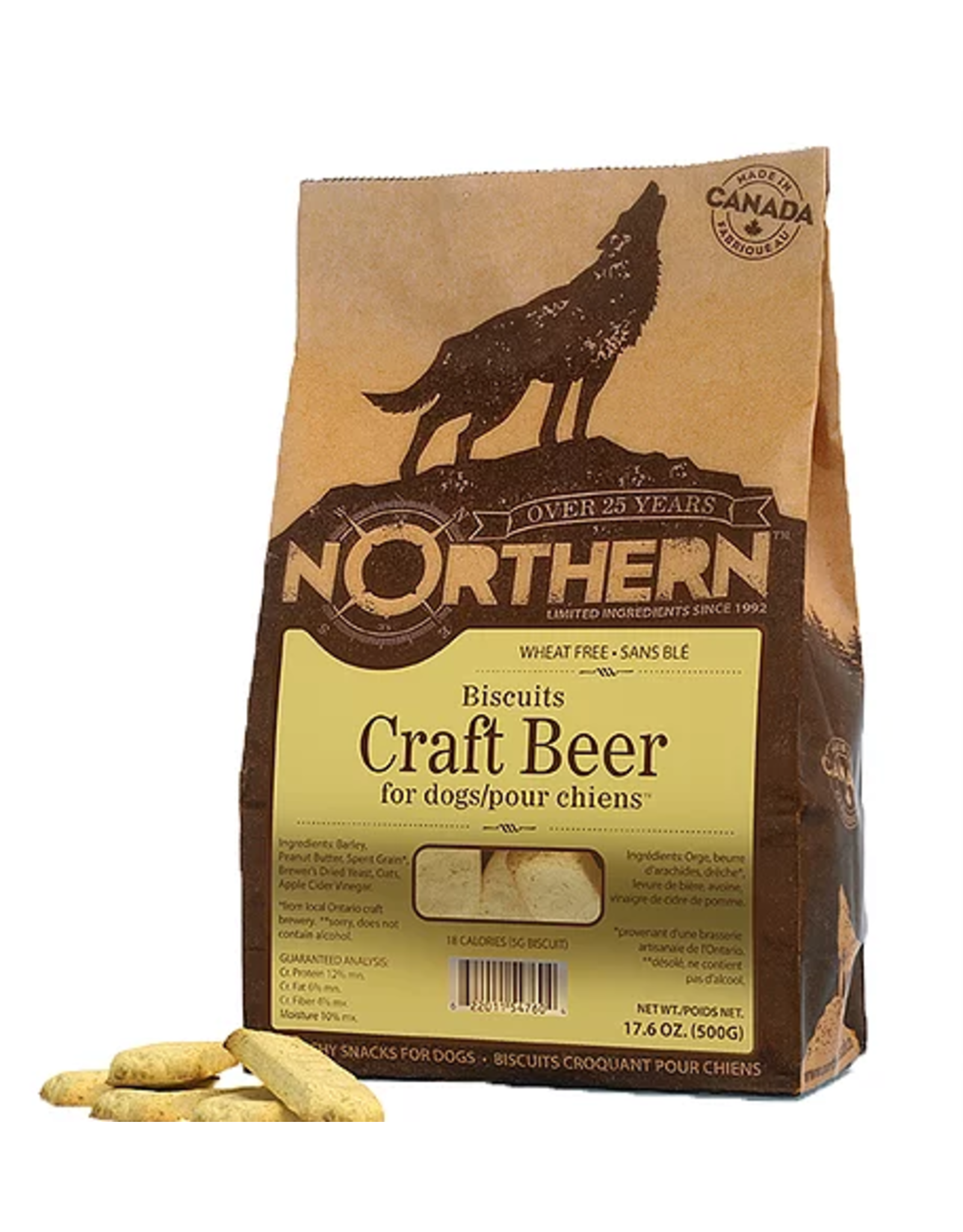 NORTHERN DOG JR CRAFT BEER WHEAT FREE 500GR (CS=6)