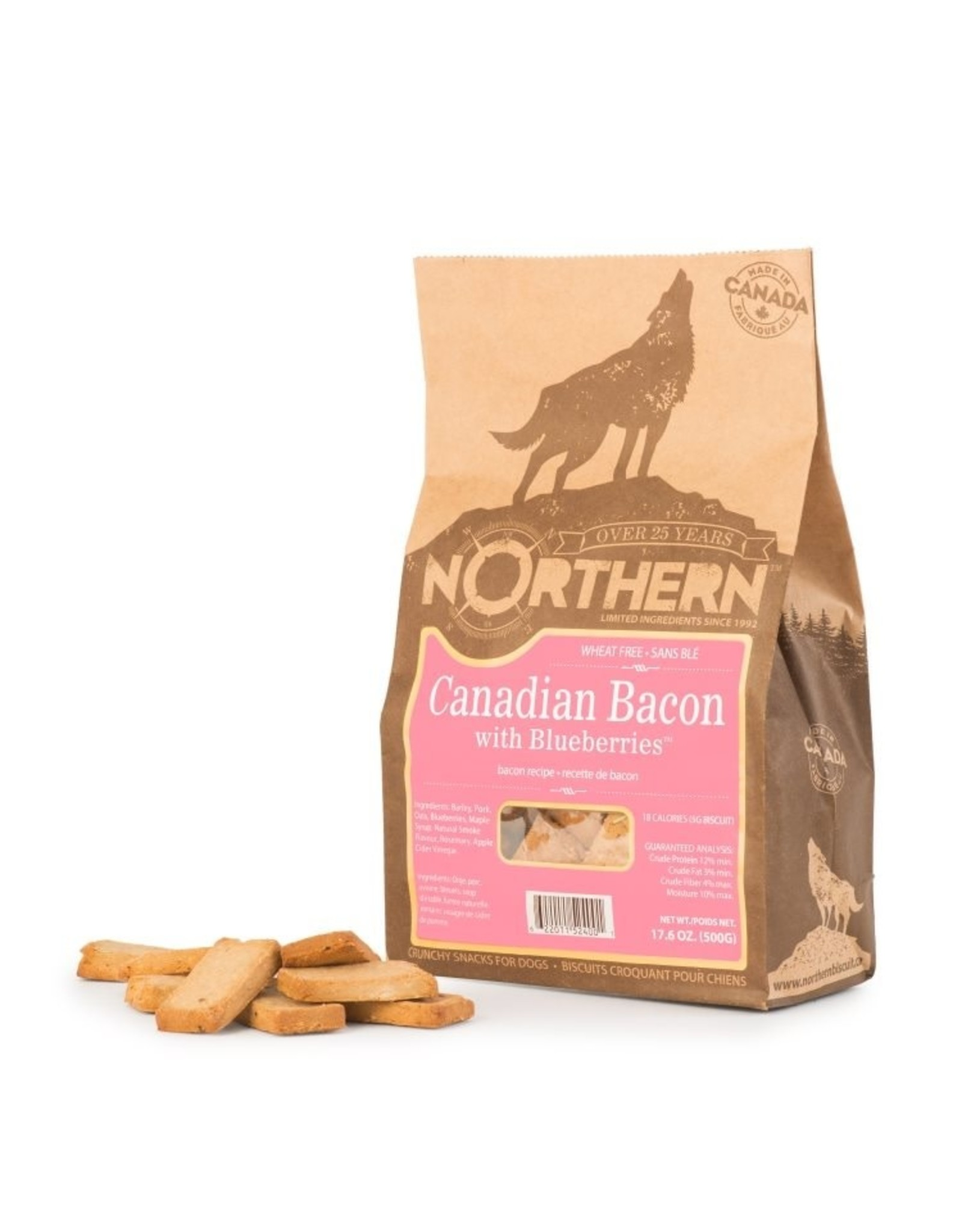 NORTHERN WHEAT FREE CANADIAN BACON/BLUEBERRIES 500gr(CS=6)