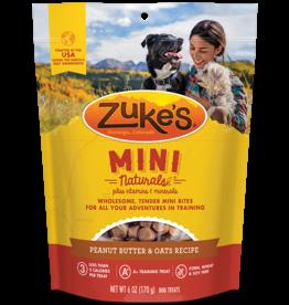 Zukes Zuke's Dog MINI Treats Peanut butter 6oz
