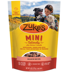 Zukes Zuke's Dog Mini Treats SALMON 6oz