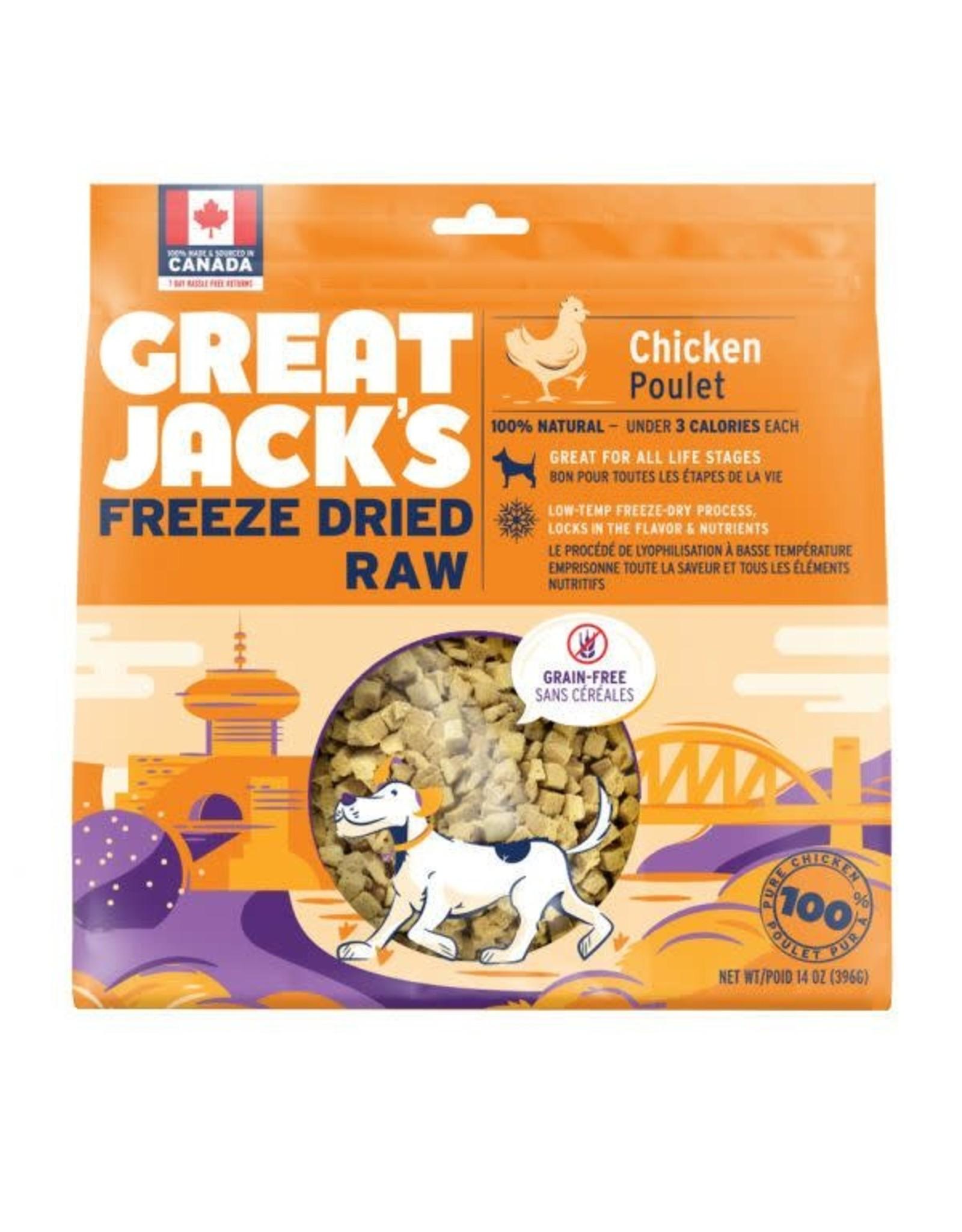 Great jacks Freeze Dried Raw Chicken 396g