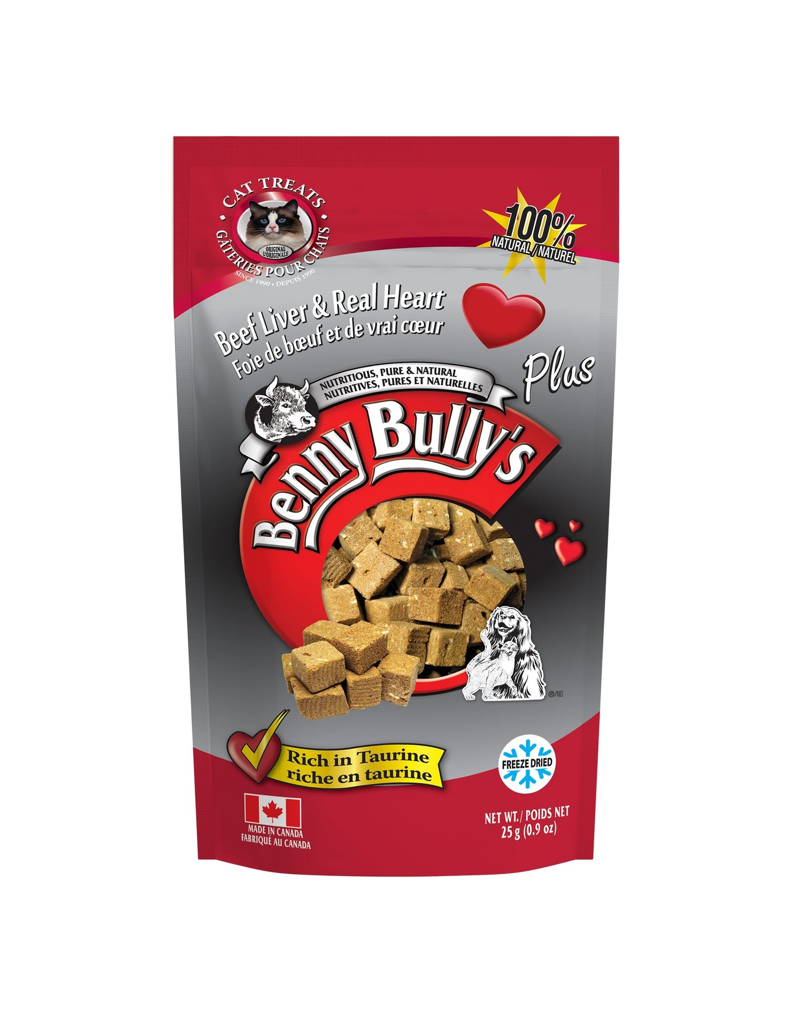Benny Bully's Benny Bully's Cat Beef Liver Heart 25g