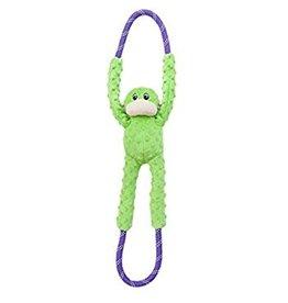 zippy paws Monkey Ropetug Dog Toy Green