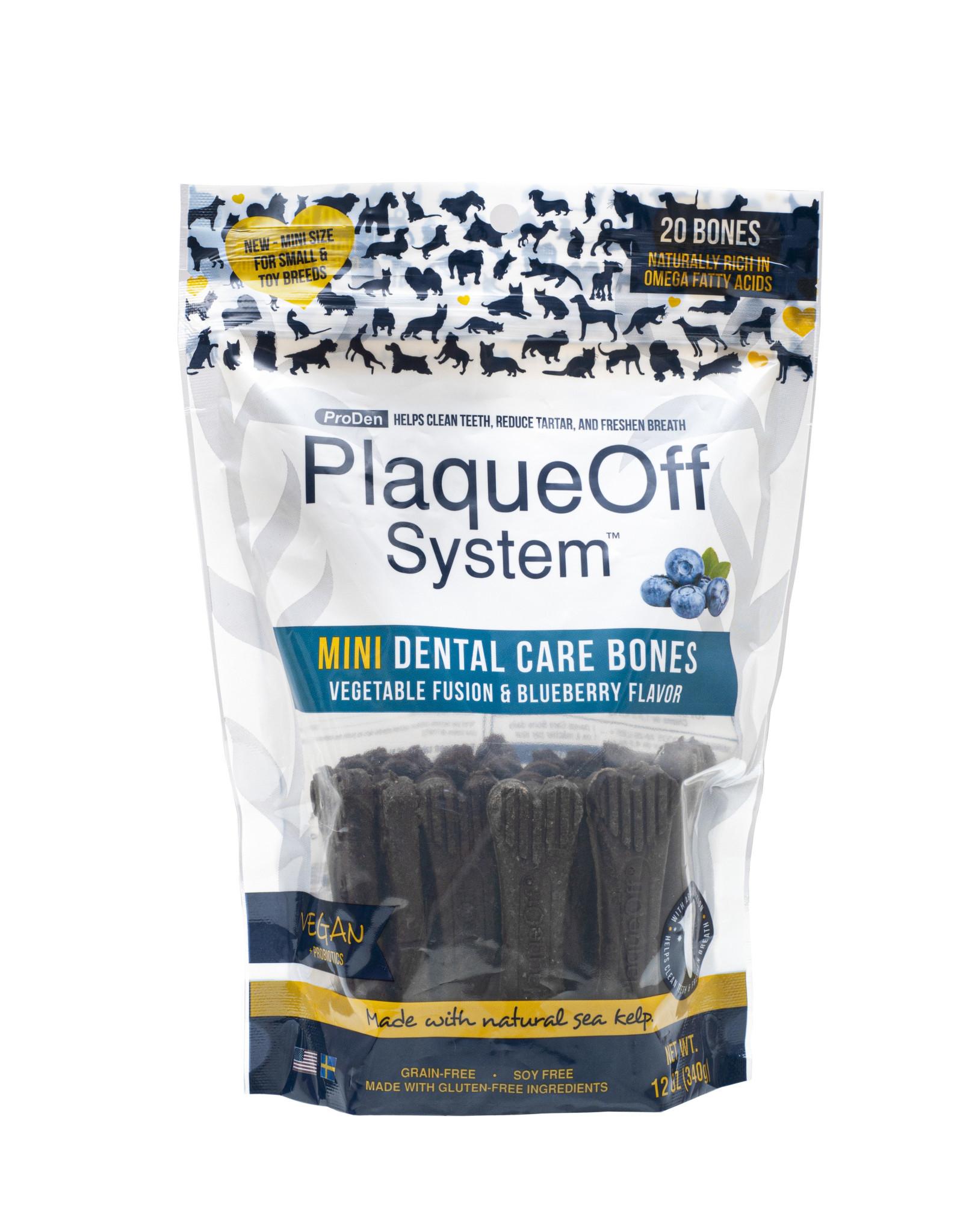 Plaque Off Veg Fusion & Blueberry 12oz Dental Bones