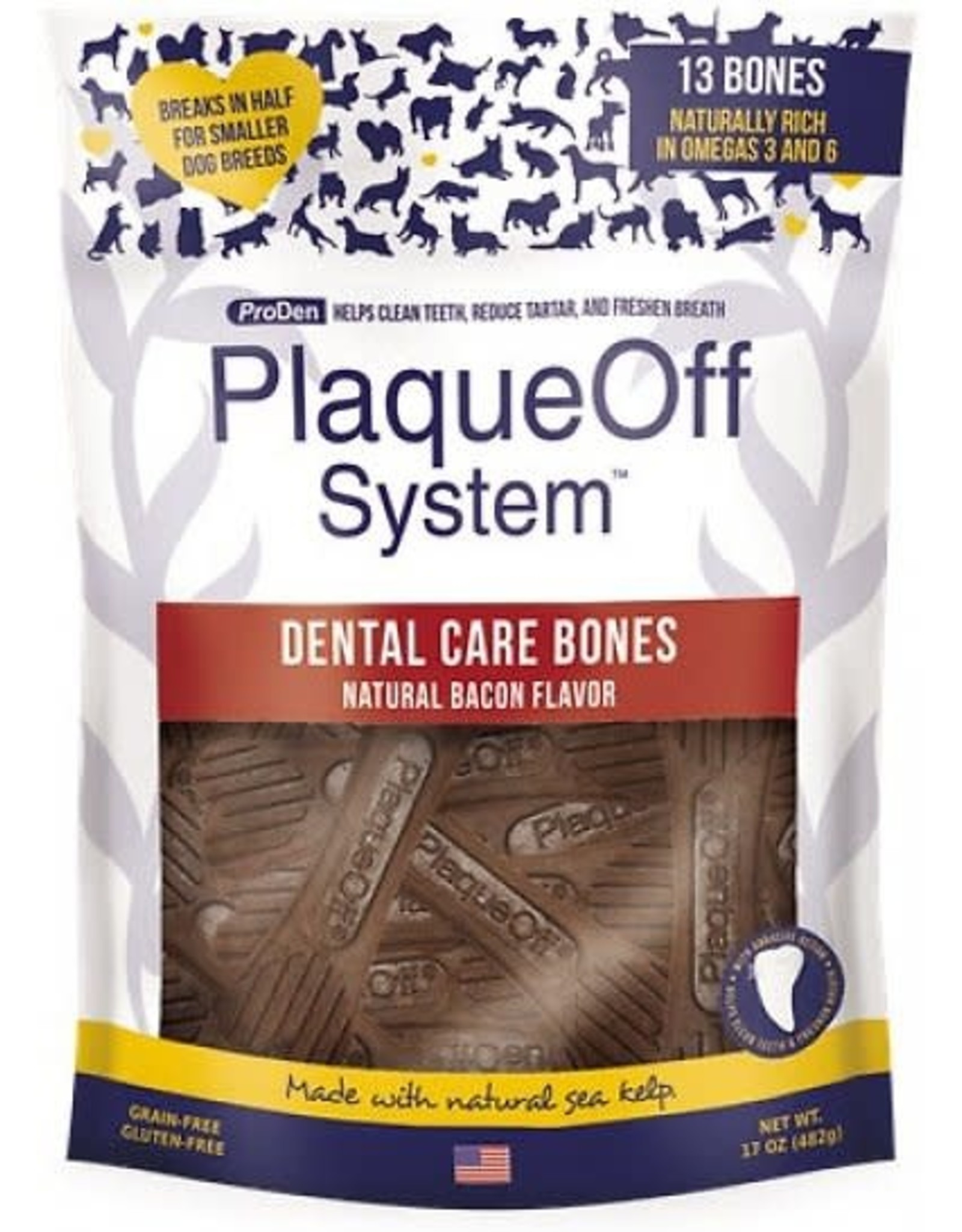 Plaque Off Bacon Dental Treats