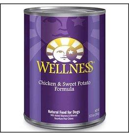 WELLNESS DOG CHICKEN CANS 12/12.5 OZ.