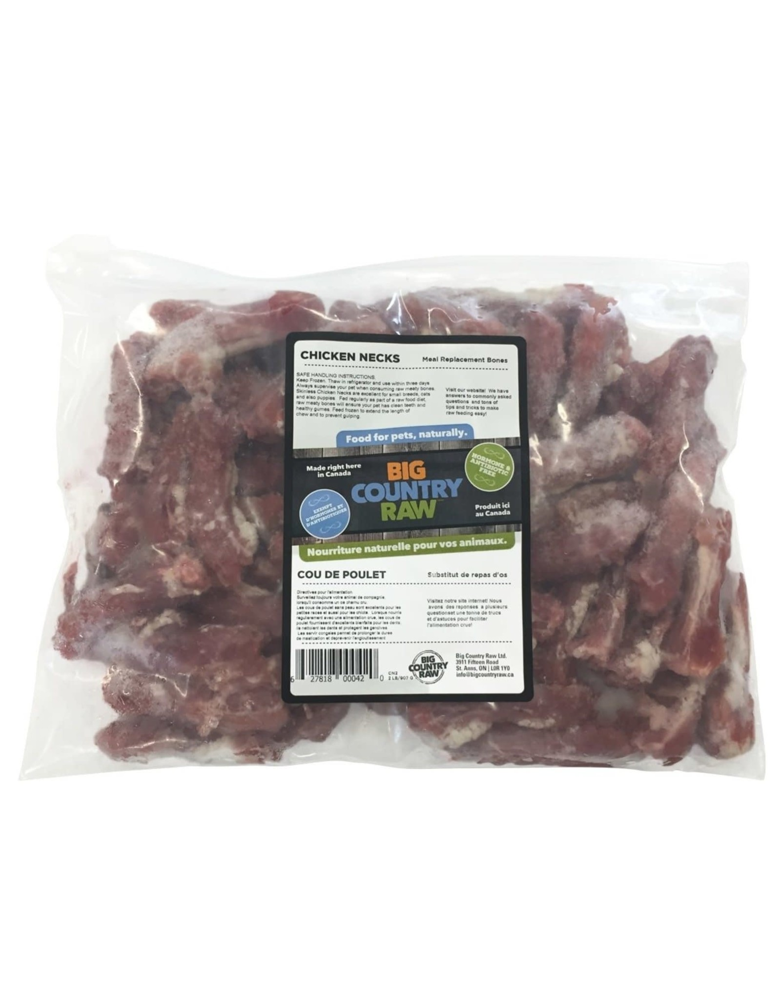 Big Country Raw Big Country Raw - Chicken Necks (skinless) 2lb