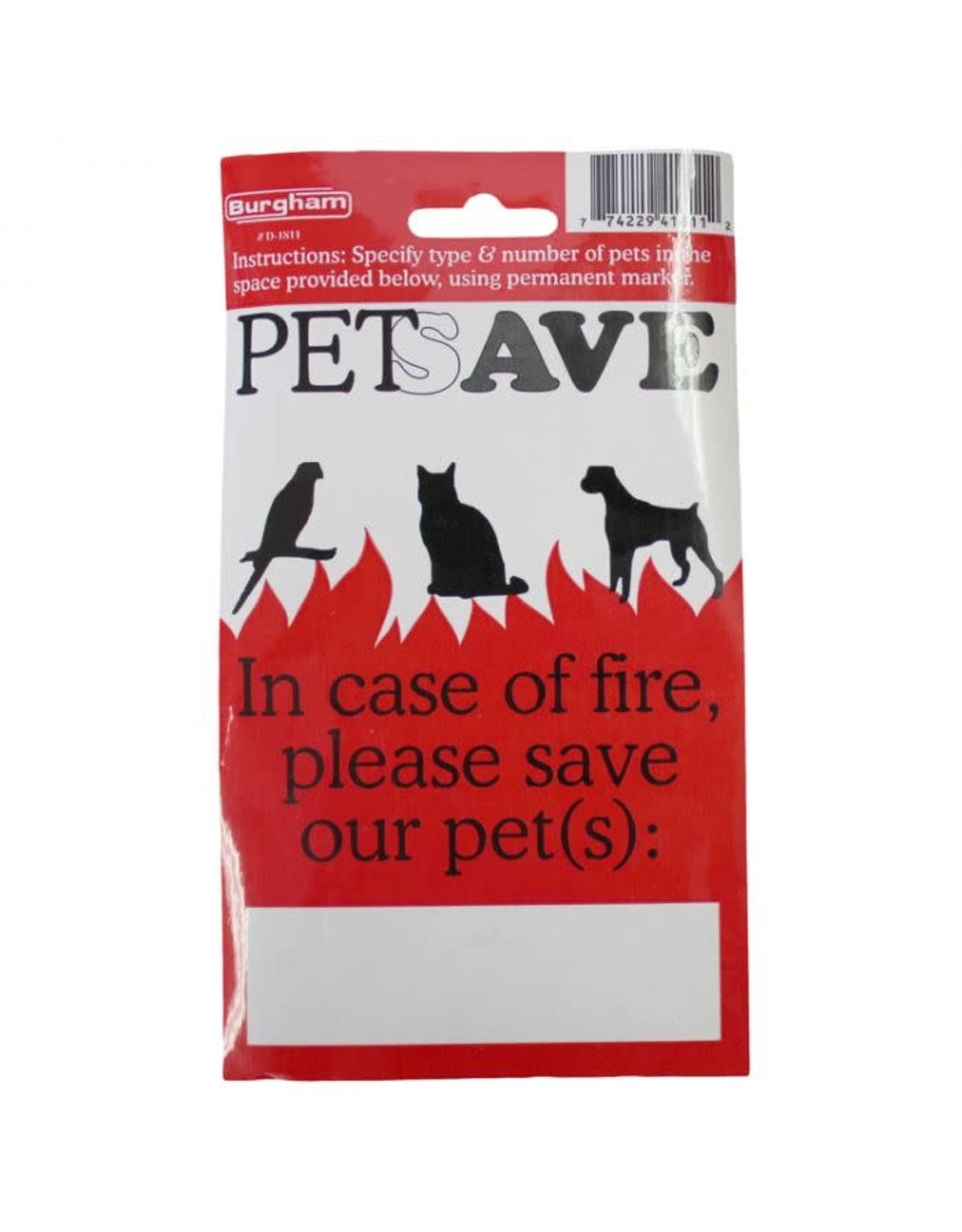 PETSAVE Fire Sticker /ENG (6)