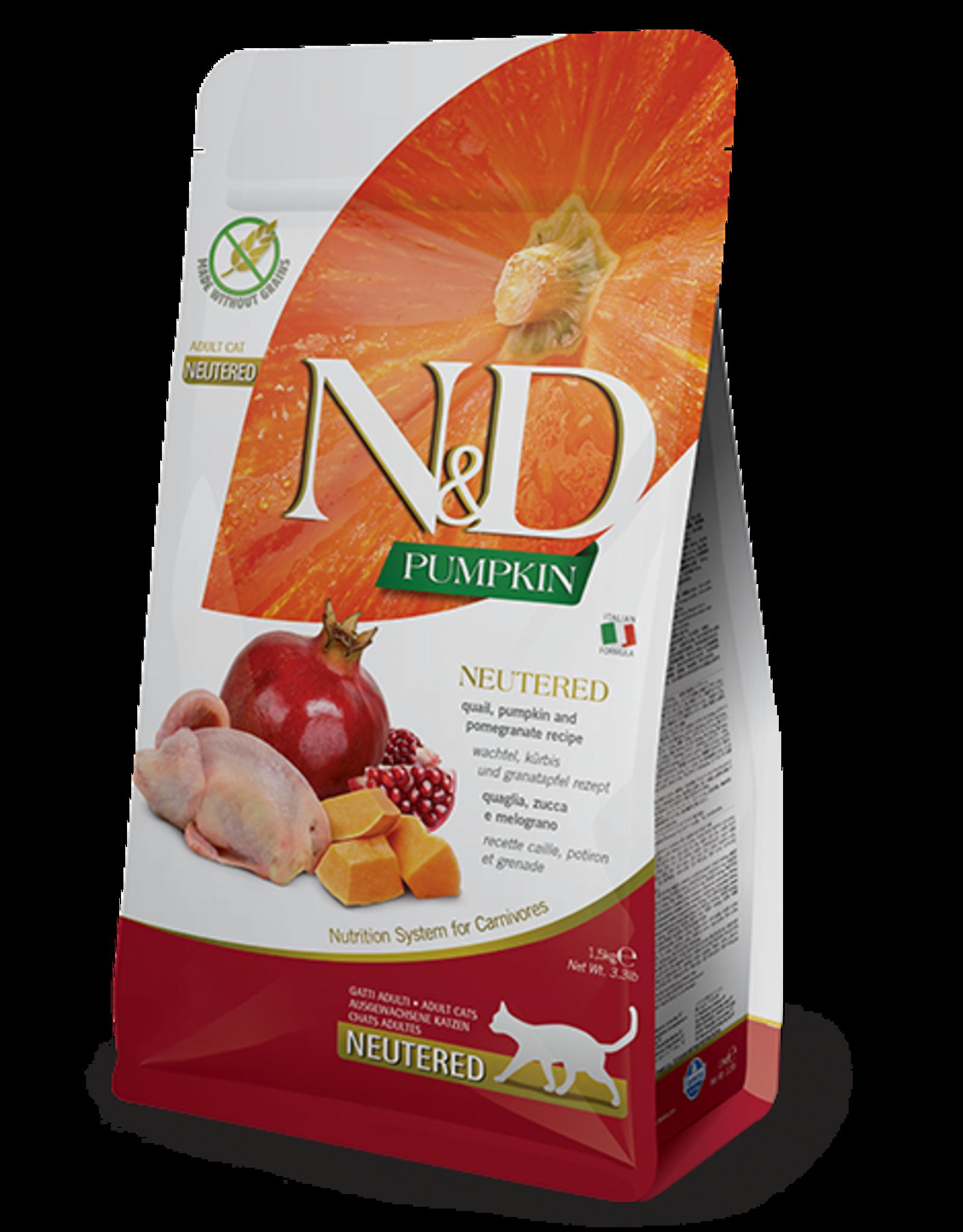 Farmina N&D Cat - Neutered Pumpkin & Quail 3.3lb