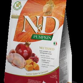 Farmina N&D Cat Dry - Neutered Pumpkin Quail & Pomegranate Adult 3lbs
