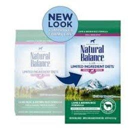 Natural Balance natural balance LID w/Grains Lamb & Brown Rice SmBrd 4LB(6)
