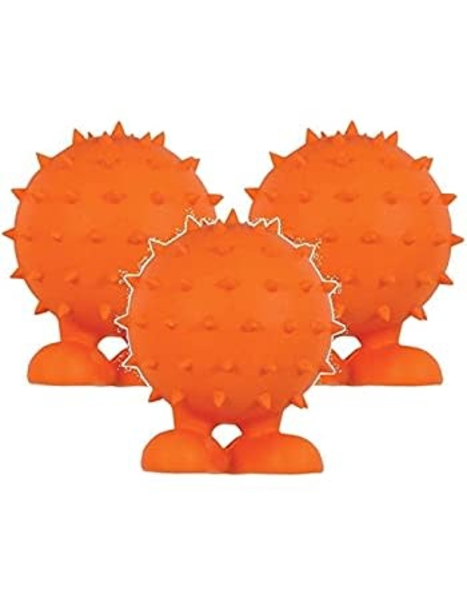 large spiky organe cuz dog toy