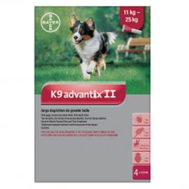 Bayer K9 Advantix II for Large Dogs 11-25KG (4 doses)