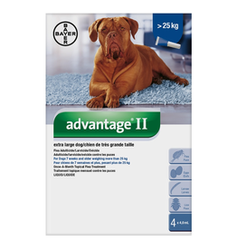 Advantage II for X-Large Dogs over 25KG (4 doses)