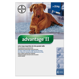 Bayer Advantage II for X-Large Dogs over 25KG (4 doses)