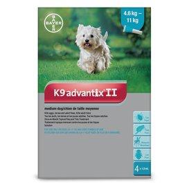 Bayer K9 Advantix II for Medium Dogs 4.6-11KG (4 doses)