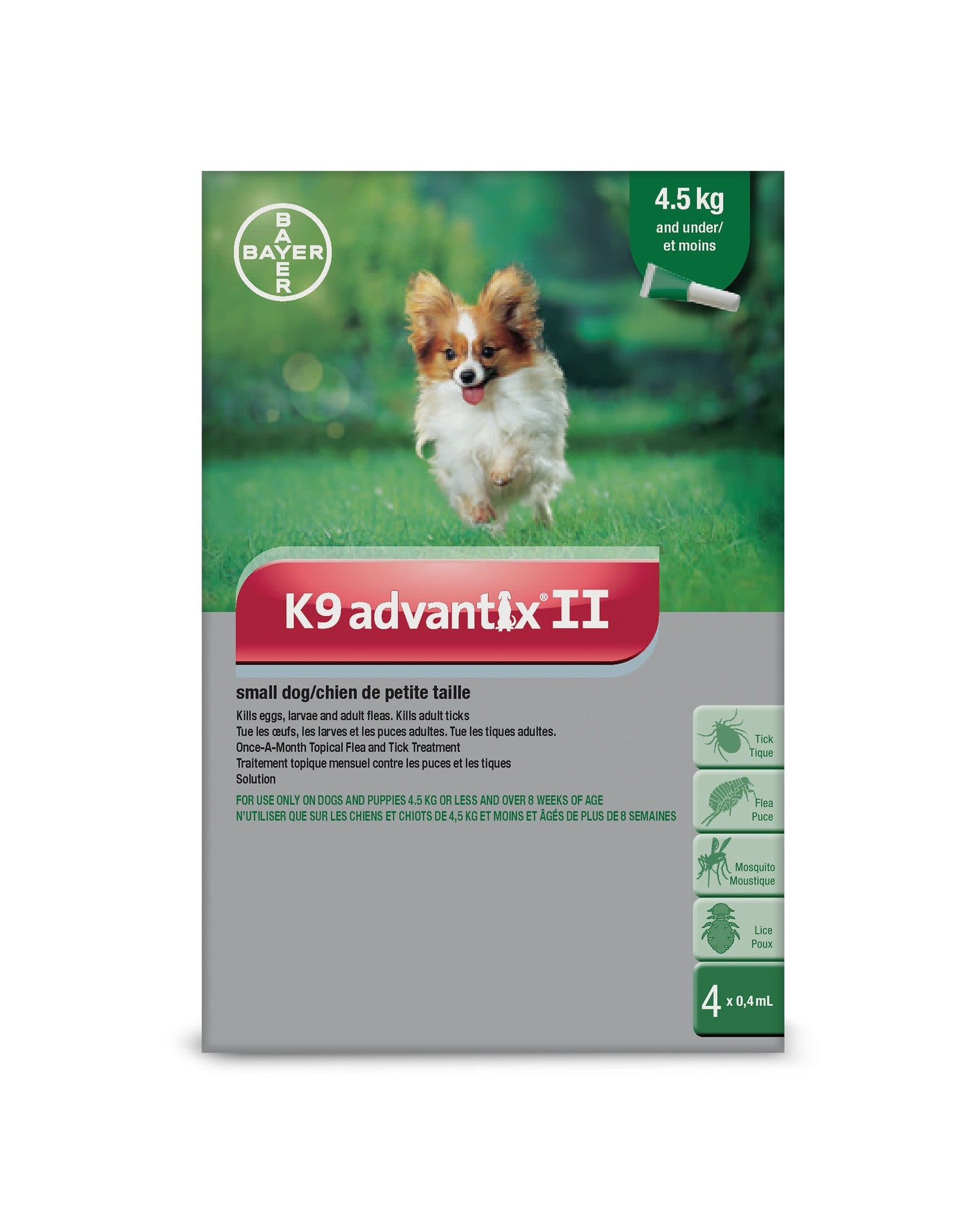 K9 Advantix II for Small Dogs Under 4.5KG (4 doses)