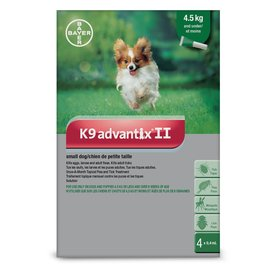 Bayer K9 Advantix II for Small Dogs Under 4.5KG (4 doses)