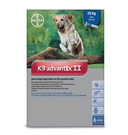 K9 Advantix II for X-Large Dogs over 25KG (4 doses)