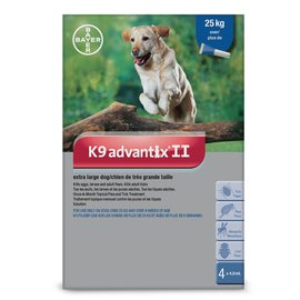Bayer K9 Advantix II for X-Large Dogs over 25KG (4 doses)