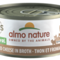 Almo Nature Almo Cat Nature HQS Natural Tuna with Cheese in Broth Can 140g