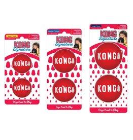 KONG SIGNATURE BALL LG RED 2PCK