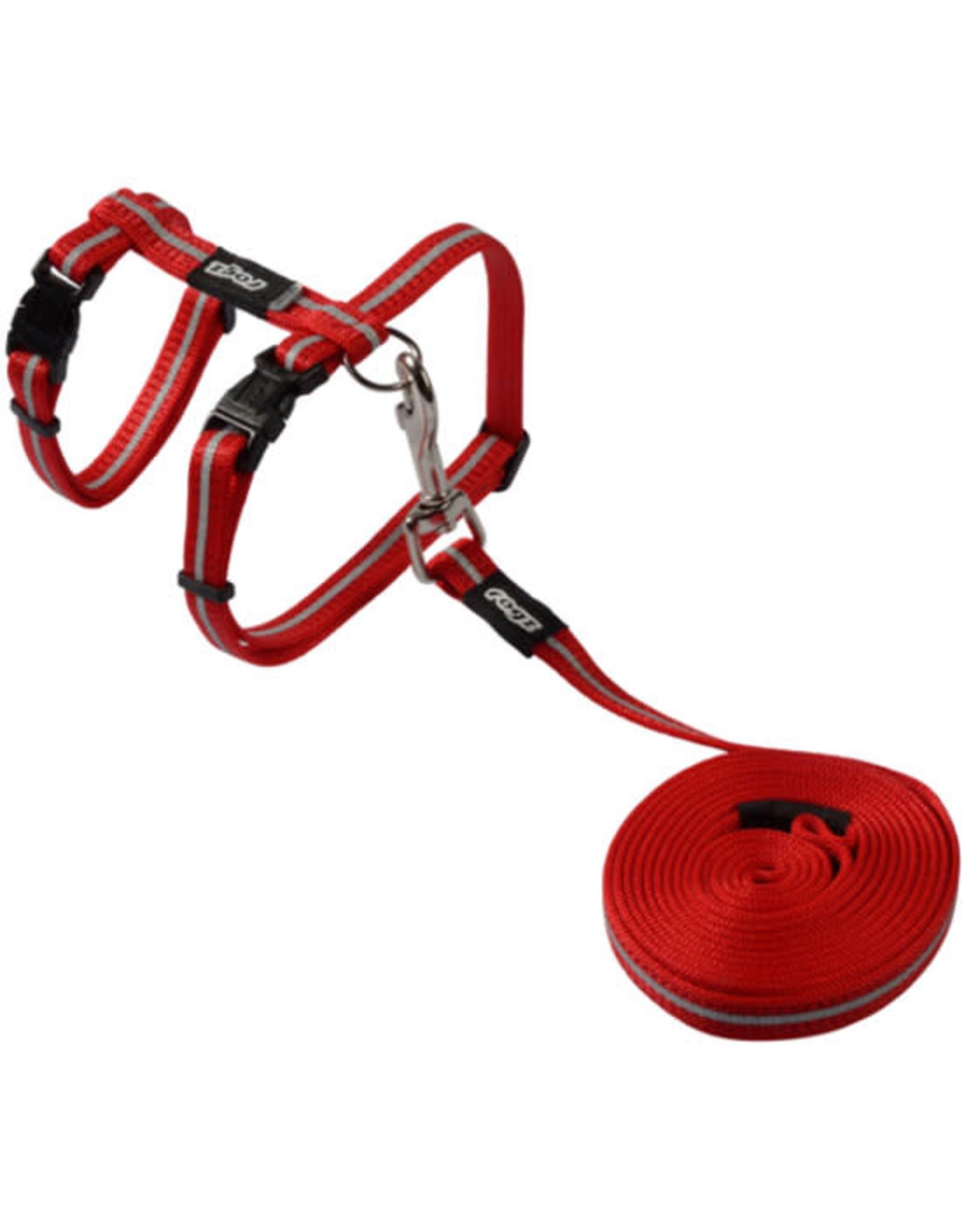 Rogz AlleyCat - Harness+Lead Red