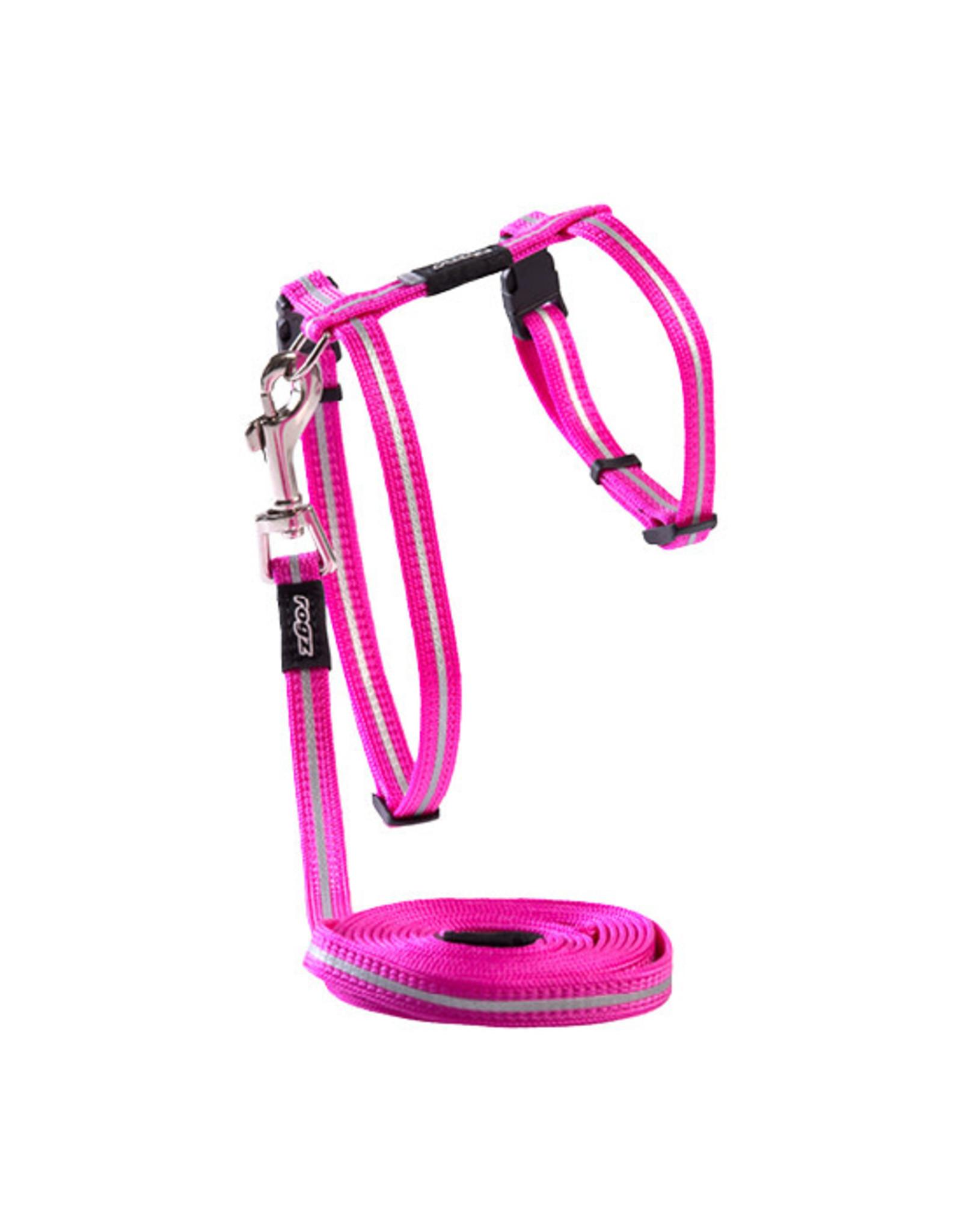 Rogz AlleyCat - Harness+Lead Pink