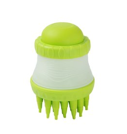 scrub buster green dog brush