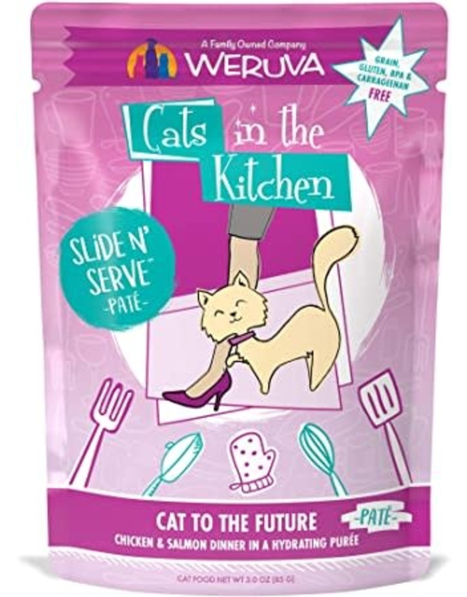 Weruva CITK Pouch - CAT TO THE FUTURE Chicken/Salmon pate 3oz