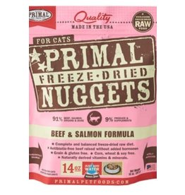 Primal CAT primal freeze dried nuggets beef and salmon 14oz