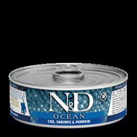 Farmina N&D Cat Wet - Ocean Cod, Shrimp & Pumpkin 2.8oz